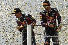 Formel 1 - Deutlich mehr Gelassenheit als fr�her: Horner: Webber & Vettel harmonische Paarung