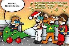 Formel 1 - Eine sch�ne Bescherung: Neuer Comic: Rasante Weihnachtsgr��e