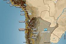 Dakar - Rallye Dakar 2012 - Die Route