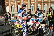 Dakar - Dash Sonderpr�fung zum warm werden: Bikes - Aprilia holt ersten Tagessieg 2012