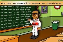 Formel 1 - Lewis' leise Neujahrsvors�tze: Neuer Comic: Hamilton will sich 2012 bessern