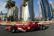 Formel 1 - Das Sieger-Gen(�) f�hrt mit : Video - Ferrari mit 300 Sachen durch Doha