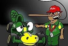 Formel 1 - Wundersch�n?: Neuer Comic: Die Caterham-Nase