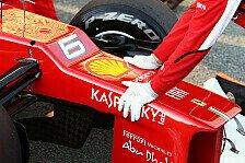 Formel 1 - Strukturell irrelevantes Bauteil: Ferrari mit versteckter Stufennase