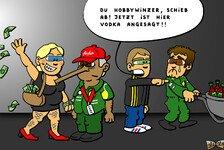 Formel 1 - Tony l�sst die Puppen tanzen: Comic: Caterham verwandelt Wein in Vodka