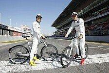 Formel 1 - smart ebike f�r Schumacher und Rosberg: Silberpfeilfahrer unterwegs auf E-Bike