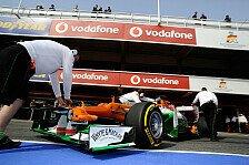 Formel 1 - Zuverl�ssig und schnell: H�lkenberg von roten Flaggen behindert