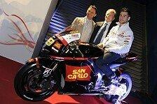 MotoGP - Die Maschinen sind schwarz: Gresini-Launch mit Simoncelli-Tribut