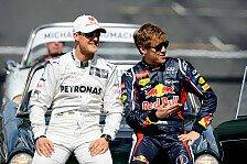 Formel 1 - Hohe T�ne: Schumacher: Ferrari als Herausforderung f�r Vettel
