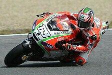MotoGP - Bunt durchmischte Zeiten: Hayden trotzt dem Regen an Tag 2