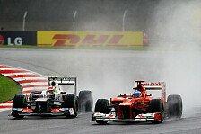 Formel 1 heute vor 8 Jahren: Perez-Show in Malaysia