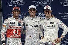 Formel 1 - Auf Fangios Spuren: Rosberg: Gesparter Reifensatz als Trumpf