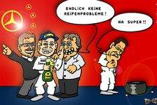Formel 1 - Pechvogel Schumacher: Neuer Comic: Mercedes & die Reifen