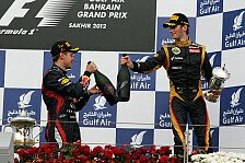 Formel 1 heute vor neun Jahren: Grosjean stößt mit Vettel an