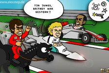 Formel 1 - Von Britney zu Rambo: Neuer Comic: Nico Rosbergs Imagewechsel