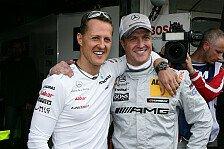 Formel 1 - Vor dem 300. Grand Prix: Fan-Service: Schumacher-Br�der bei Beckmann