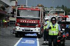 Formel 1 - Drei Verletzte im Krankenhaus: Feuer-Quelle im Benzinlager