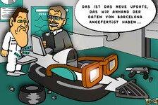 Formel 1 - Autoscooter, Abstandsmesser & Kuhf�nger: Neuer Comic: Mit Brillen-Update nach Monaco