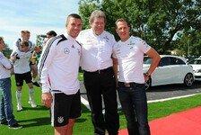 Formel 1 - Wir sind bei dir: Podolski: Outfit im Gedenken an Schumacher