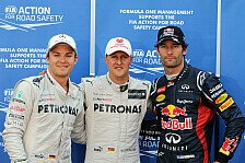 Formel 1 - Es ist Michaels Tag: Schumacher: Nicht schlecht f�r einen Oldtimer