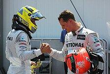 Formel 1 - Rosberg zollt Schumacher Respekt