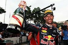Formel 1 - Sonst w�re ich wohl kaum geblieben: Red Bull: Webber f�hlt sich gleichberechtigt