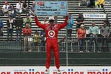 IndyCar - Br�chiger Asphalt sorgt f�r Probleme: Dixon gewinnt in Detroit