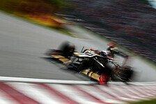 Formel 1 - Lotus: Fragezeichen bei Regenperformance
