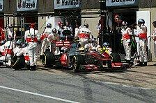 Formel 1 - K�nnte rennentscheidend sein: Boxenstopps: McLaren will das Niveau halten