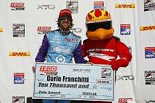 IndyCar - Kanaan & Rahal hilft der Sieg wenig: Franchitti gewinnt Qualifying-Rennen in Iowa
