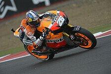 MotoGP - Bradl f�hrt sich auf Platz zwei: Pedrosa Schnellster in Regensession