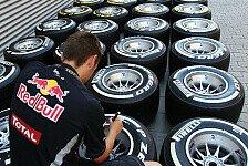 Formel 1 - Pirelli nennt Reifenwahl bis zur Sommerpause