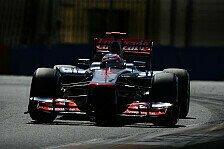 Formel 1 - Vorderr�der blockierten: Button sucht weiterhin den Schl�ssel