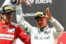 Formel 1 - Immer ein Auge auf Michael: Alonso: Schumacher war der Beste in der F1