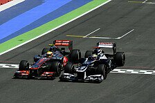 Formel 1 - 20 Sekunden Strafe f�r Hamilton-Unfall: Maldonado verliert Punkt am gr�nen Tisch