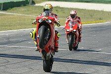 MotoGP - Es gab viel zu sagen: Video - Rossi und Hayden bei der WDW