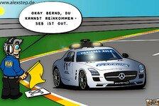 Formel 1 - Amerikanische Zust�nde: Neuer Comic: Vettel eingebremst?