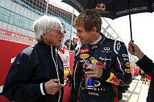 Formel 1 - Er verdient den Titel vielleicht etwas mehr: Ecclestone wettet auf dritten WM-Erfolg f�r Vettel