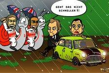 Formel 1 - Im Schneckentempo durchs Heimrennen: Neuer Comic: Schlammchaos in Silverstone