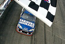 NASCAR - Denny Hamlin nach Aufholjagd auf Platz zwei: Gl�cklicher zweiter Saisonsieg f�r Kasey Kahne