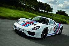 918 Spyder-Prototyp im Martini-Racing-Design