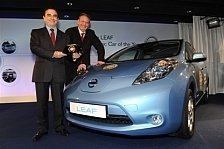 Auto - Preisgekr�nte Elektromobilit�t: Nissan Leaf ist das Auto des Jahres 2011