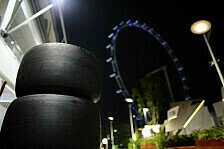 Formel 1 - Hohe Temperaturen, viele Kurven: Hohe Belastung f�r die Reifen in Singapur