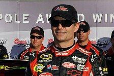 NASCAR - Denny Hamlin nur im Training vorne: Jeff Gordon steht zum 72. Mal auf Pole