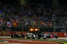 Formel 1 - Die zweite Safetycar-Phase zerst�rte das Rennen : Strategiebericht Singapur GP