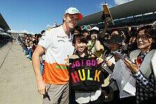Formel 1 - So viele Punkte wie m�glich: H�lkenberg: Unerfahrenheit ist kein Handicap