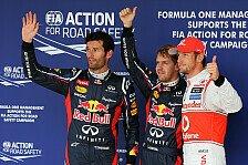 Formel 1 - Am Ende hat er mich gekriegt: Webber: Seb & ich mit gro�artigen Runden