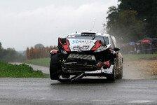 WRC - Tanz auf dem Rasen: Video - Novikovs Crash bei der Rallye Frankreich