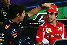 Formel 1 - Waren sie nackt?: Vettel lacht �ber Alonso-Webber-Foto
