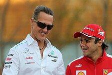 Formel 1 - An der Seite des Ex-Kollegen: Massa an Schumachers Krankenbett